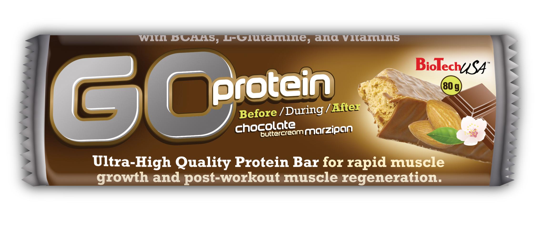 BioTech GO Protein, tyčinka 80g.