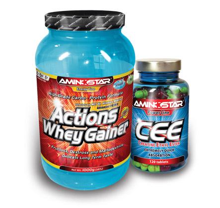 Aminostar Whey Gainer 2,25kg + Creatin Ethyl Ester ZADARMO