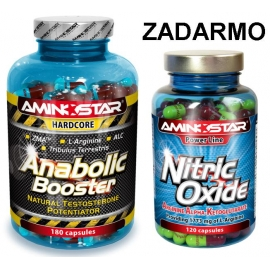 Anabolic Booster 180cps. + Nitric Oxide 120cps. ZADARMO