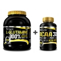 L-Glutamine 240g. + BCAA 3D 90cps. ZADARMO