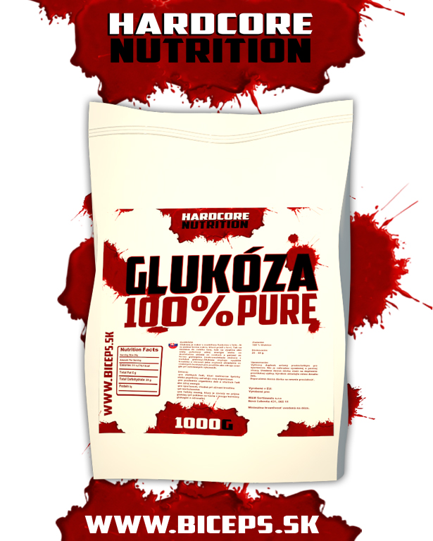 Hardcore Nutrition Glukóza 1000g.